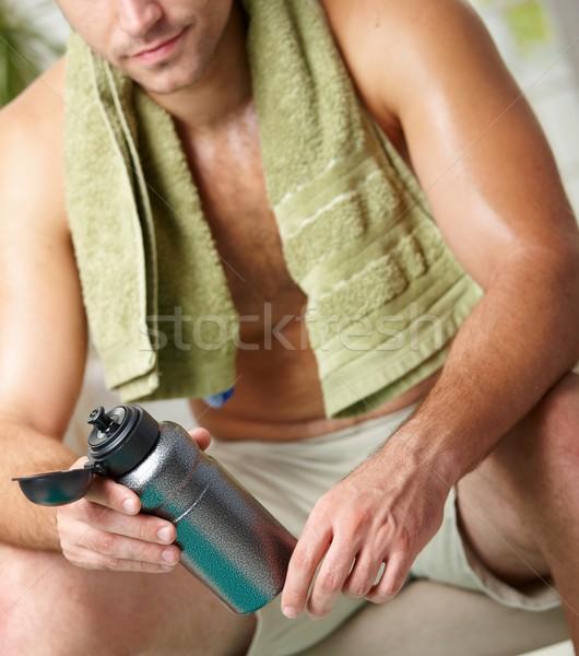 Moe man opleiding fles Stockfoto © nyul