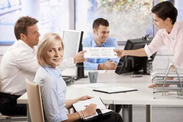 Stock photo: Business people working in office