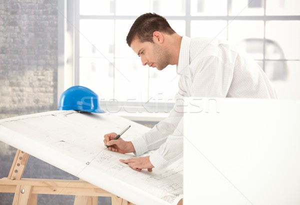 Young engineer busy by working Stock photo © nyul