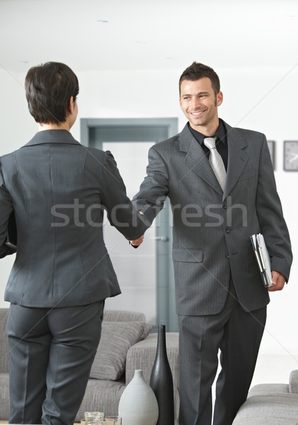 Business partners shaking hands Stock photo © nyul