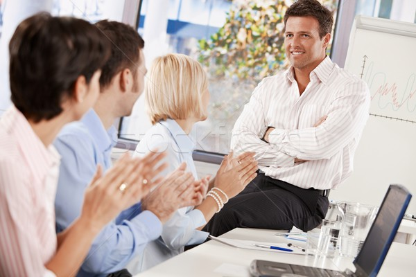 Businesspeople clapping Stock photo © nyul