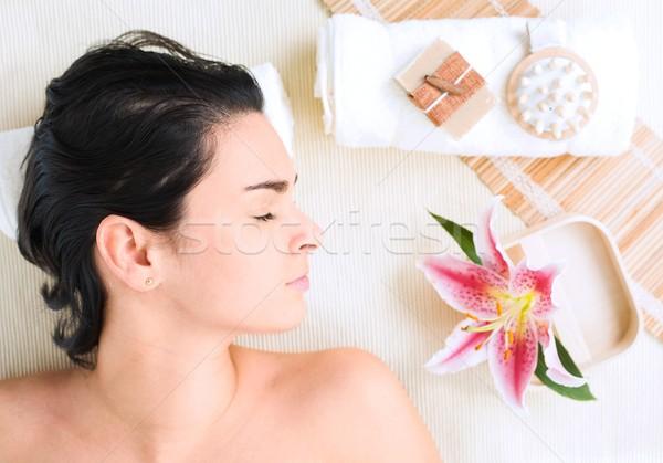 Wellness afbeelding lichaam licht massage olie Stockfoto © nyul