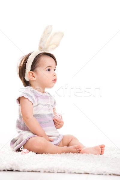 Little bunny girl Stock photo © nyul