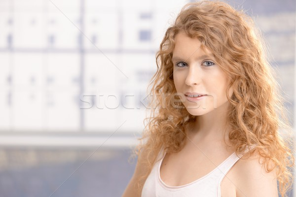 Pretty girl dressed up for workout smiling Stock photo © nyul