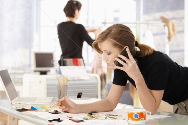 Zdjęcia stock: Moda · projektant · biuro · młodych · atrakcyjna · kobieta