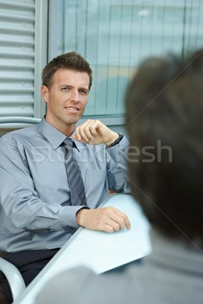 Businessman sitting outdoor Stock photo © nyul