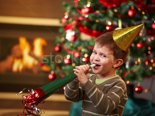 Little boy at new year's eve Stock photo © nyul
