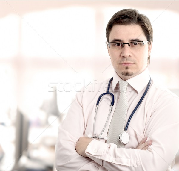Arts mannelijke arts kantoor venster daglicht Stockfoto © nyul