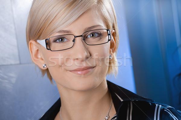 Stockfoto: Portret · zakenvrouw · aantrekkelijk · jonge