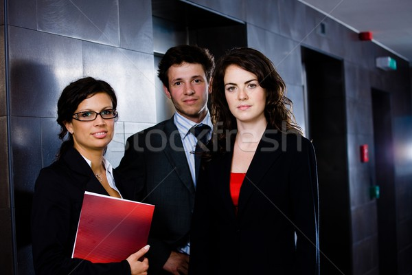 Happy young business team Stock photo © nyul