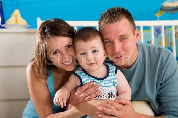 Gelukkig gezin home portret baby jongen Stockfoto © nyul