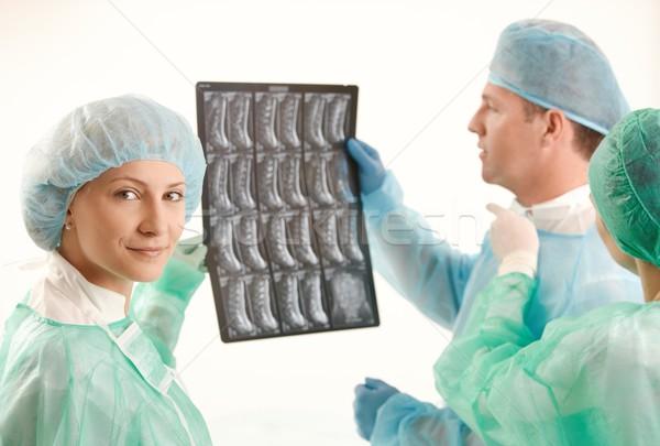 Medical team with x-ray image Stock photo © nyul