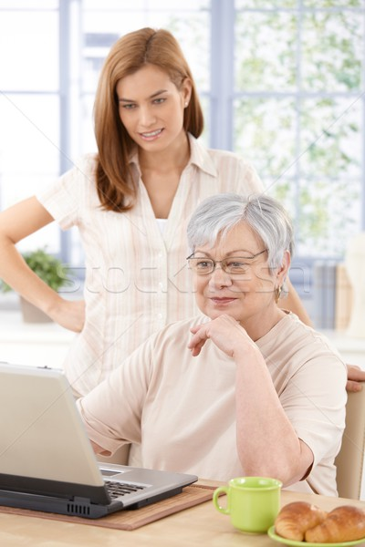 Grandmother browsing internet with granddaughter Stock photo © nyul