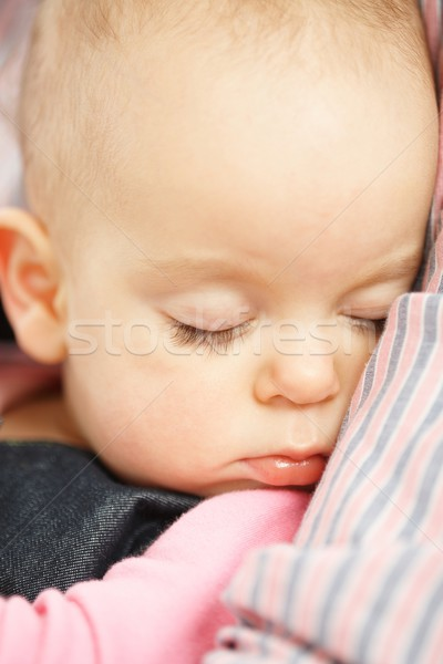 Cute baby girl sleeping Stock photo © nyul