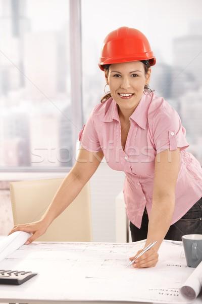 Architect working at desk Stock photo © nyul