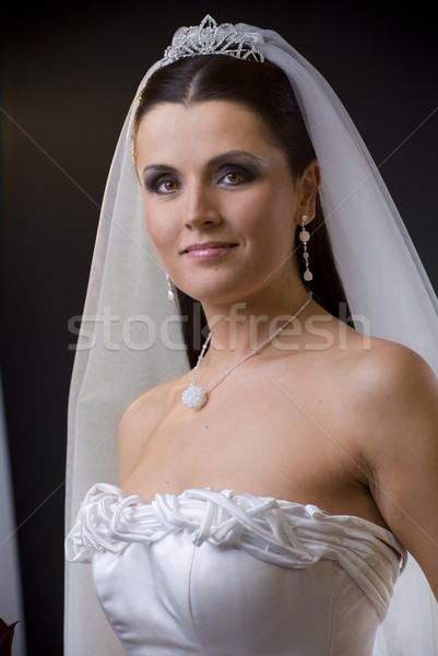 Bride in wedding dress Stock photo © nyul
