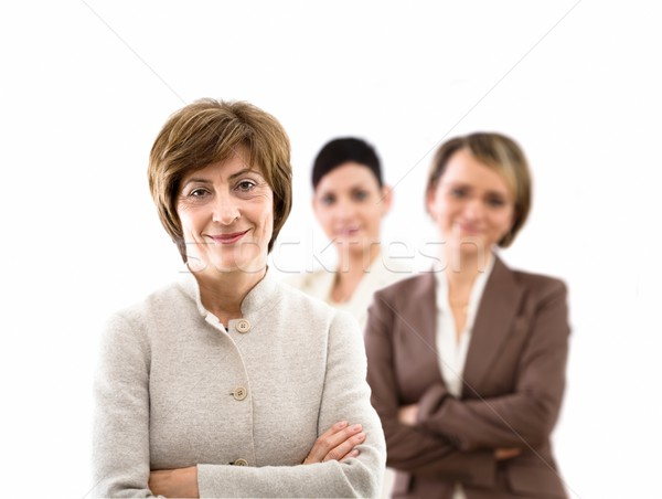 Team of businesswomen isolated Stock photo © nyul