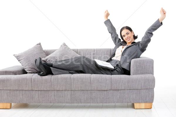 Happy businesswoman  Stock photo © nyul