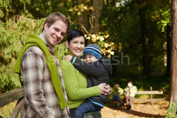 Happy family hiking Stock photo © nyul