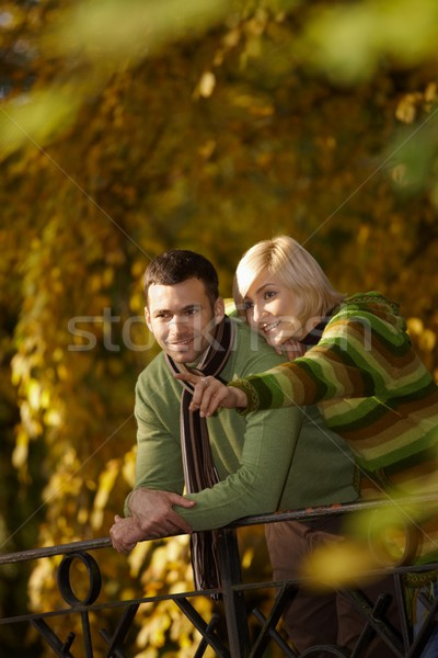 Outdoors portrait of happy couple Stock photo © nyul