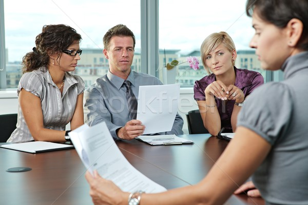 Stock photo: Business people at job interview