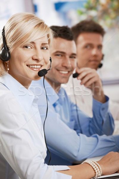 Customer service receicving calls Stock photo © nyul
