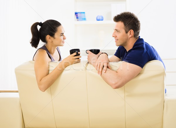 Couple drinking coffee Stock photo © nyul