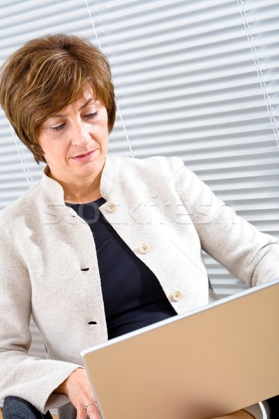 Businesswoman working on laptop Stock photo © nyul