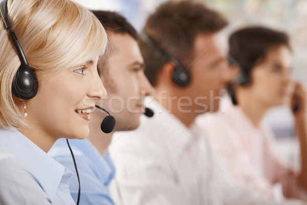 Customer service operators in a row Stock photo © nyul