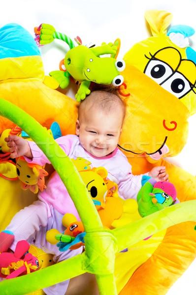 Maanden oude baby genieten spelen Stockfoto © nyul