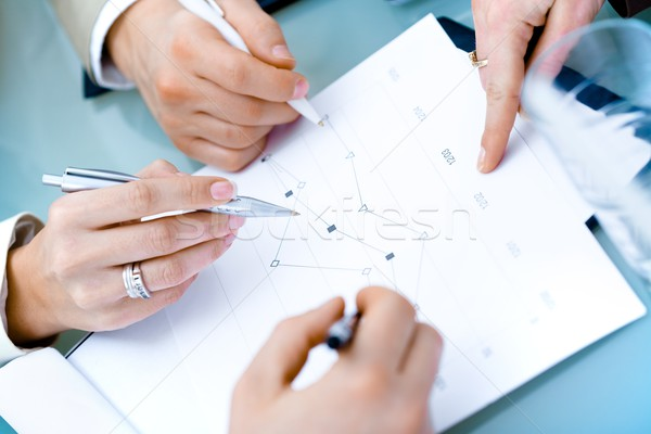 Hands of Businesspeople Stock photo © nyul