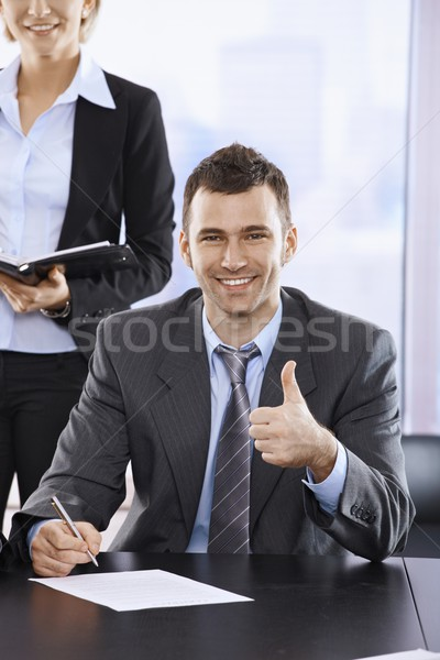 Happy businessman Stock photo © nyul
