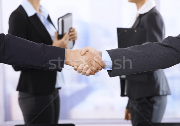 Handshake accent affaires affaires Photo stock © nyul