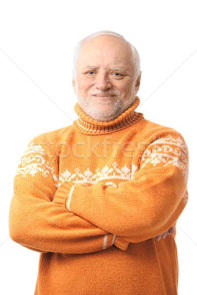 Portrait of happy senior man Stock photo © nyul