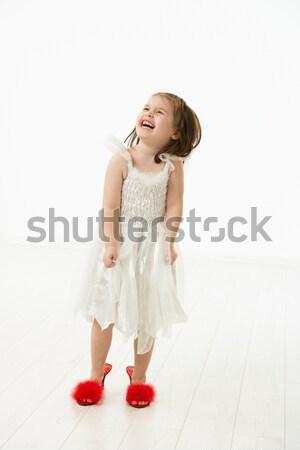 мало дочь обувь ходьбы большой Сток-фото © nyul
