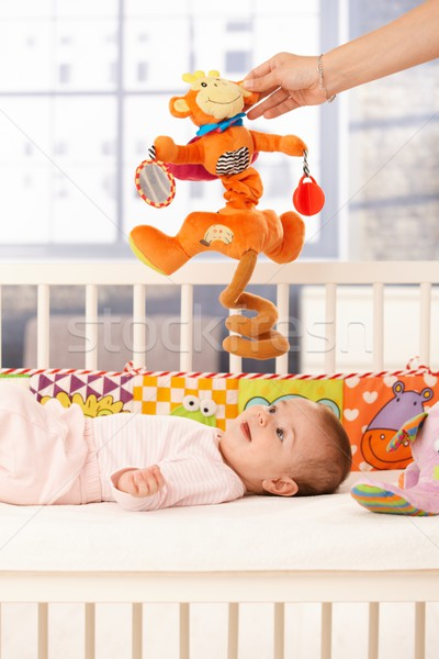 Cute infant playing Stock photo © nyul