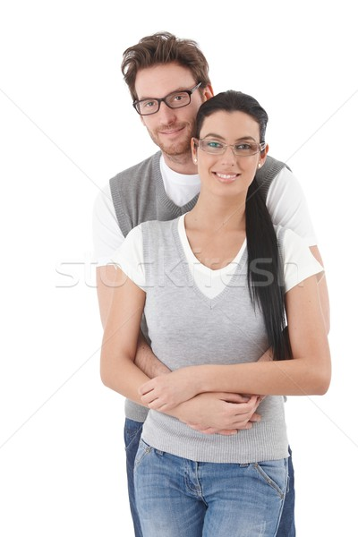 Happy young couple hugging each other Stock photo © nyul
