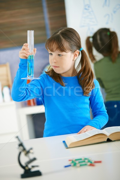 Science class at primary school Stock photo © nyul
