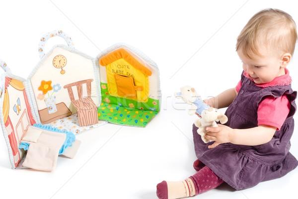 Baby girl playing Stock photo © nyul