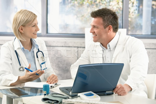 Two medical doctors consulting Stock photo © nyul