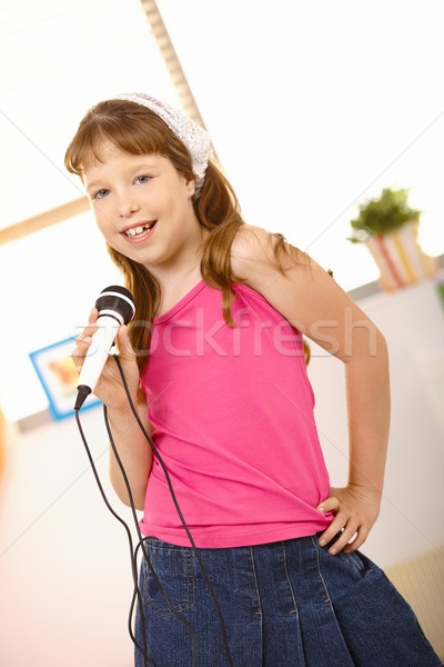 Schoolgirl performing song Stock photo © nyul