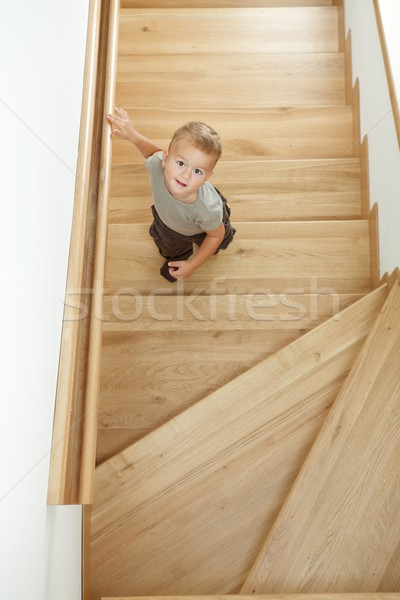 Little boy on stairs Stock photo © nyul