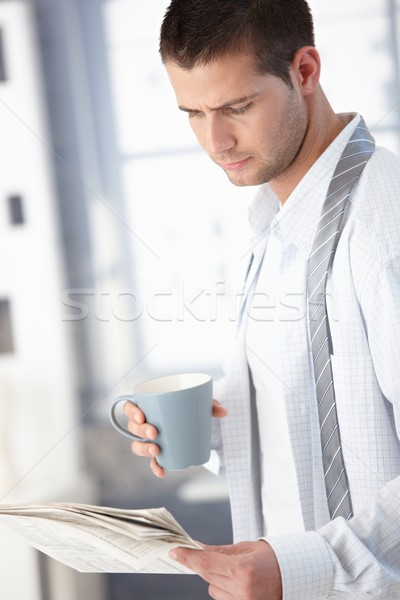 Young man in the morning with tea Stock photo © nyul