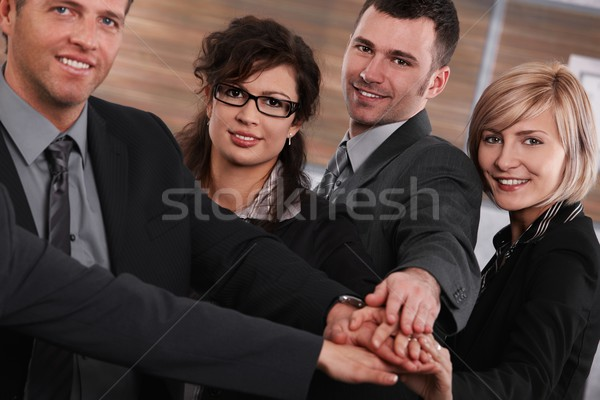 Successful businesspeople joining hands Stock photo © nyul
