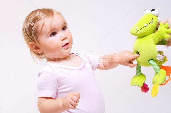 Baby plays with toys Stock photo © nyul