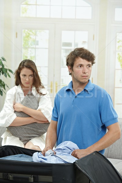 Infeliz casal homem roupa mala Foto stock © nyul