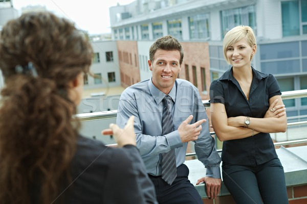 Stock photo: Business people on terrace