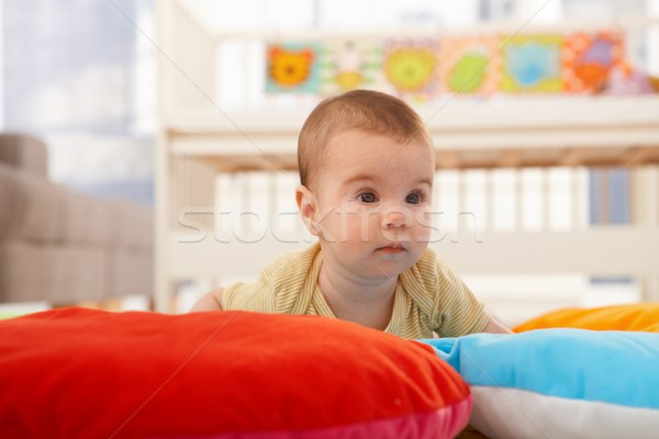 Cute infant on playmat Stock photo © nyul