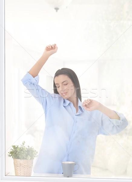 Mujer manana luz pie Foto stock © nyul