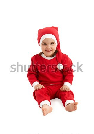 Santa costume on little kid Stock photo © nyul